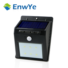 EnwYe LED Solar Power PIR Motion Sensor Wall Light Outdoor Waterproof Energy Saving Street Yard Path Home Garden Security Lamp(China (Mainland))
