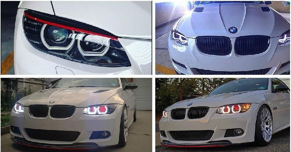 Купить 4 шт./лот БЕЛЫЙ светодиод 3014 SMD Angel Eyes Halo Кольца света Для BMW F30 F31 F32 F33 M3 M4 Туман Drl парковка свет