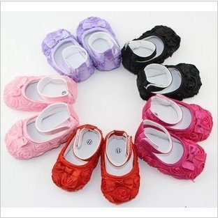 Hot Sale! Princess Baby Shoes Fashion Rose Infant Shoes for 0-12 month Baby Footwear Bowknot Kids Shoes(China (Mainland))