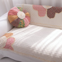 sofa cover Rustic sofa cushion fabric cotton sofa towel wood sofa cushion thickening couch cover flower(China (Mainland))