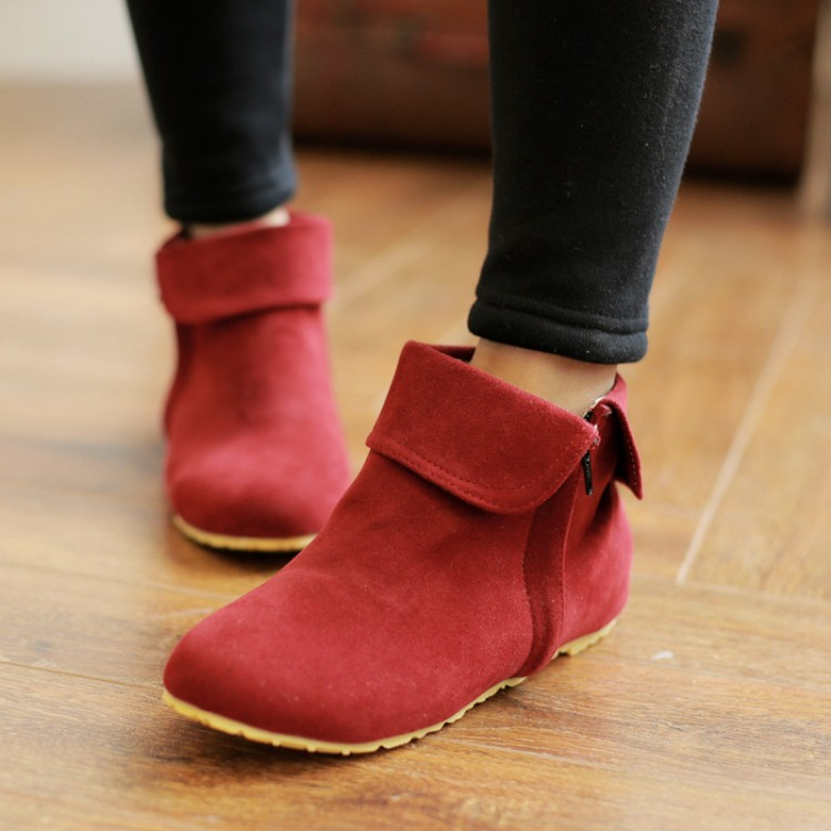 Comfortable And Wool Boots With Flat Boots In Autumn And Winter Boots Girl Martin Tong Flat Boots Korean Female Students