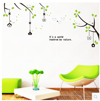 Shade wall stickers home accessories living room TV backdrop bedroom wall stickers decorative wall stickers stickers(China (Mainland))