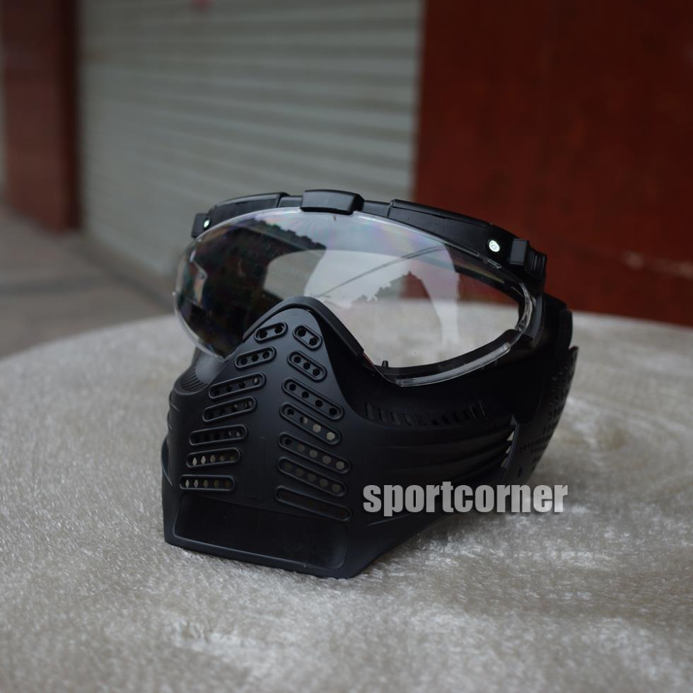 brand new high quality Mask Paintball Fan Fans & LED 3B glasses man can wear this mask for paintball accessories & equipment(China (Mainland))