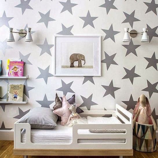 Stars Wall Sticker DIY Baby Nursery Wall Decals Removable Stars Wall Decal For Kids Room Easy Wall Decoration Vinyl Decors P2(China (Mainland))