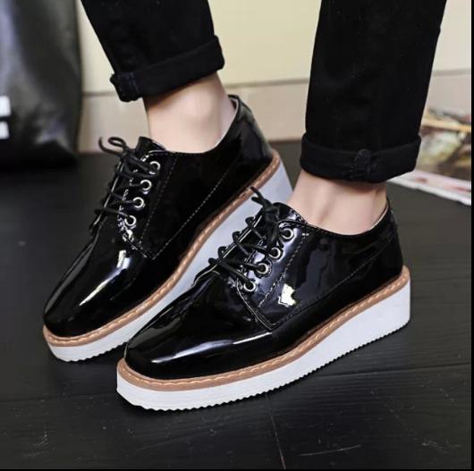 plus size 35 39 creepers platform shoes flats shoes