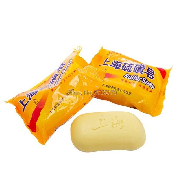 Hotest китай сера мыло 4 условия кожи угри псориаз себорея экзема анти-гриб 85 g