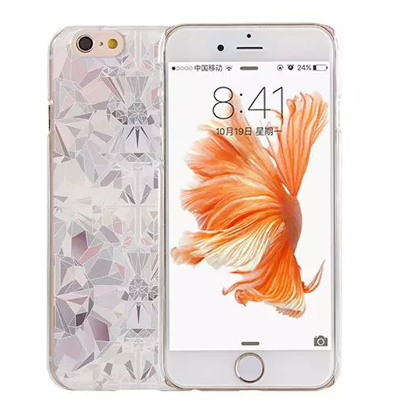 Hot oversea fashion feminine clear hard slim cell phone case for 4.7 and 5.5 inch Iphone6 6s 6plus 6splus(China (Mainland))
