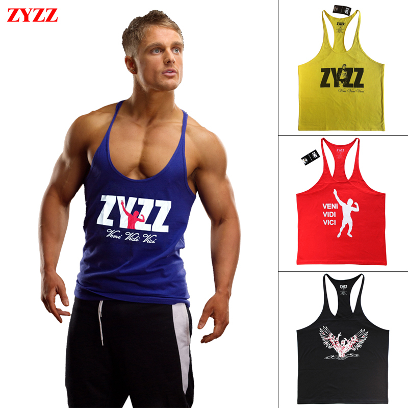 Tank Top Men Brand Zyzz Gasp Gold Gym Fitness Singlets