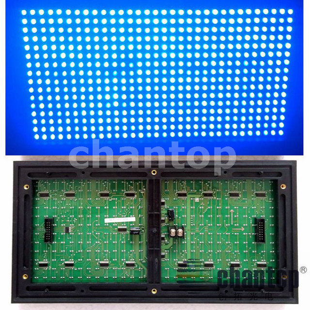 P10 Blue color Outdoor led module 320*160mm 32*16pixels waterproof high brightness for led text scrolling message display