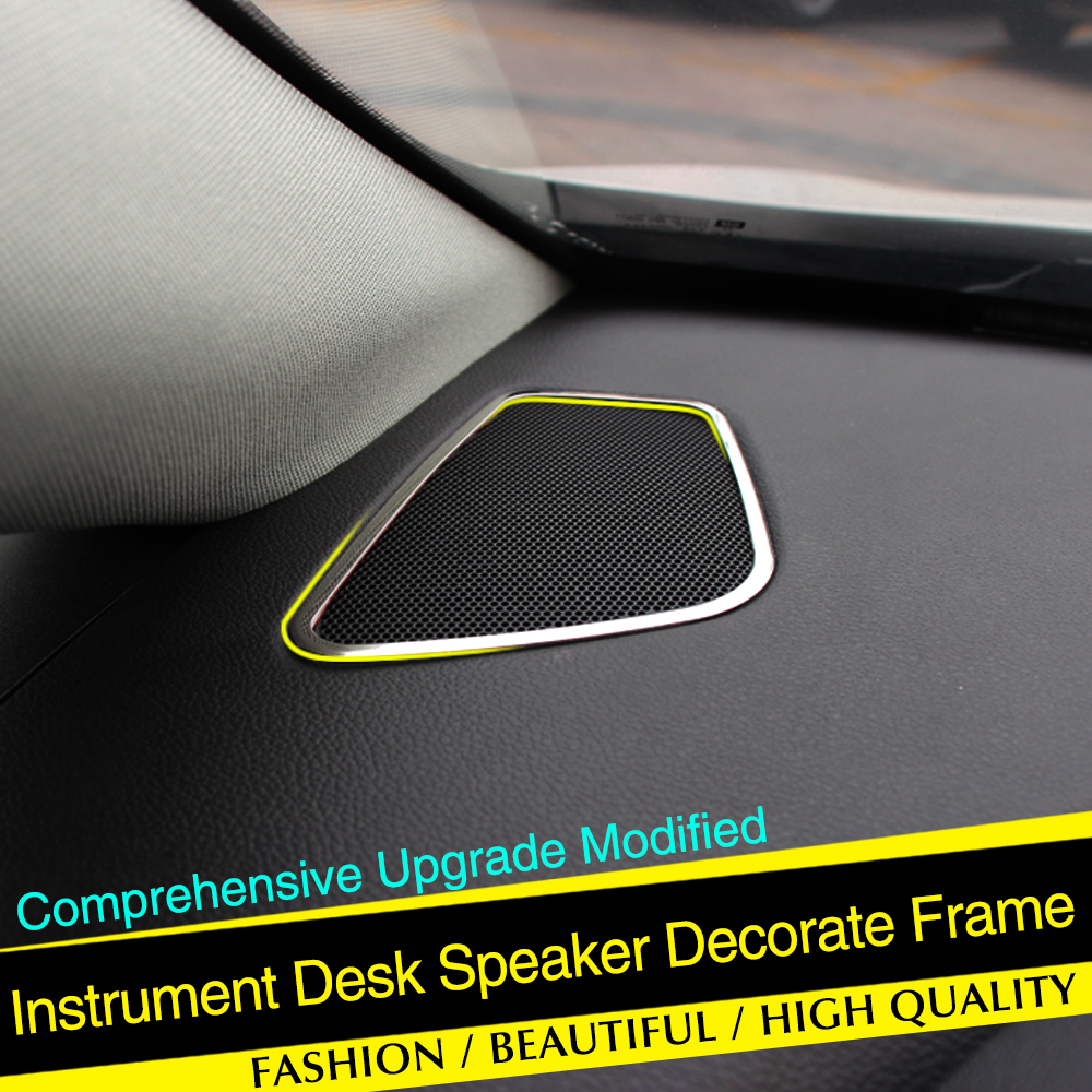 stainless steel Interior Dashboard Upper air vent cover trim 2pcs For Opel VAUXHALL ASTRA J S(China (Mainland))