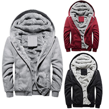 Men Fashion Winter Thick Cotton Coat Casual Hoodies Jacket Outwear(China (Mainland))