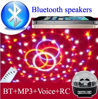Digital RGB LED Crystal Magic Ball Effect Light disco ball Bluetooth MP3 SD USB DMX Stage Lighting disco light Remote Control(China (Mainland))
