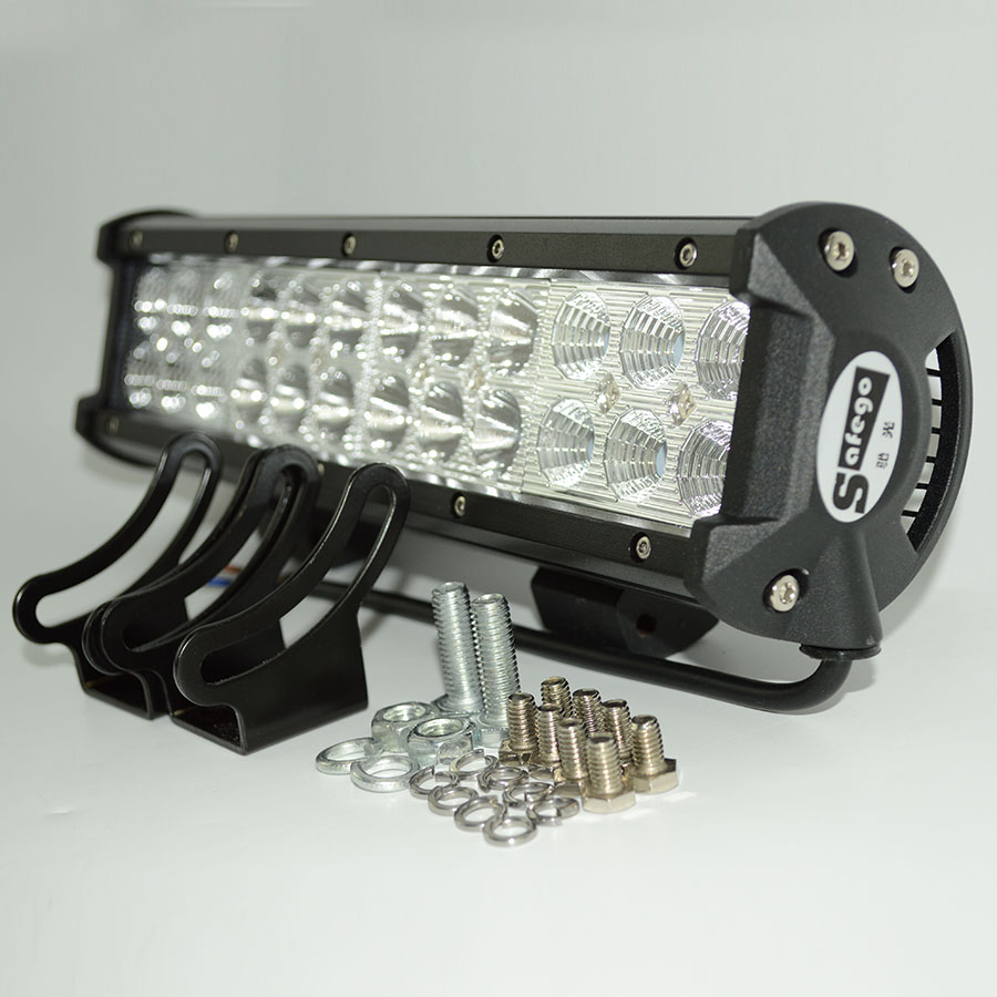 1pcs Combo 72w led atv lights 12v spot+flood design 72w light bar IP 67 Tractor Truck Trailer Off roads 4X4 cree led work light(China (Mainland))
