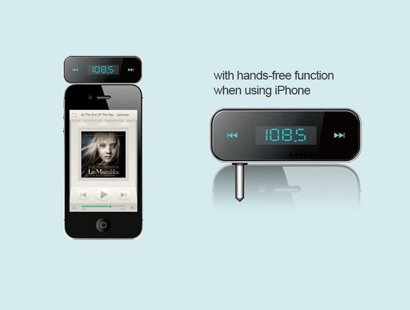 Новый мини беспроводной передатчик 3.5 мм в автомобильный музыка аудио FM передатчик для iPod мобильного для iPhone автоэлектроника mp3-плеер