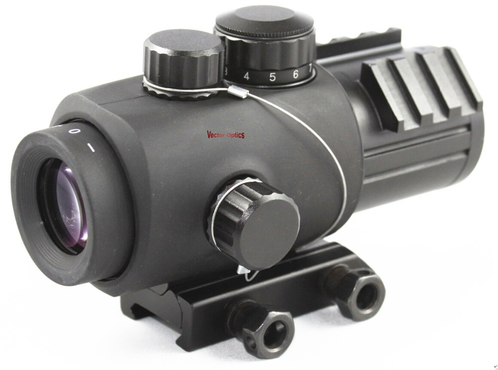 Vector Optics Calypos 3x30 Tactical Compact Gun Prism Rifle Scope Rubber Armored Sight Shooting Ballistic Reticle