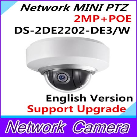 Wholesale English Version MINI PTZ Dome DS-2DE2202-DE/W Network MINI PTZ Dome Camera 2.0 megapixel POE<br>