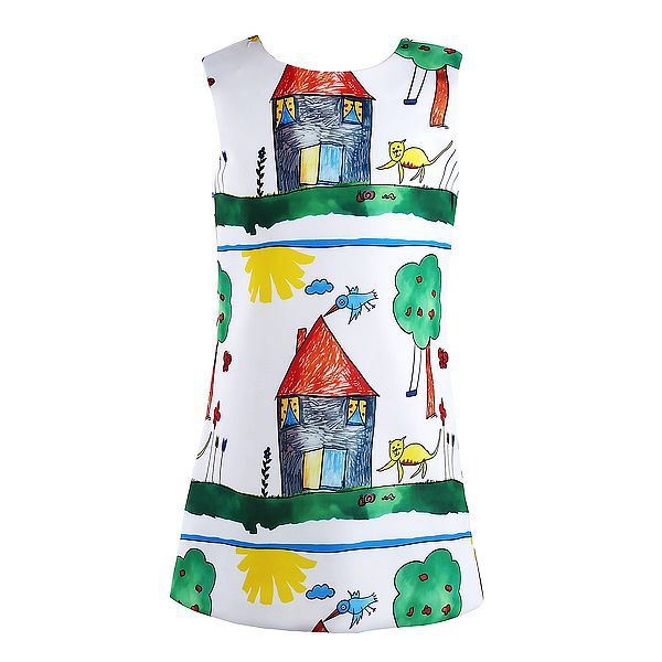 Girls Dresses Children Clothing 2015 Brand New Princess Dress Girl Clothes Printed Girl Dress Baby Party Dress Kids Clothes(China (Mainland))