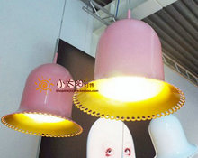 2012 hot sell Moooi lolita lamp bell hat pendant light pink  free shipping(China (Mainland))