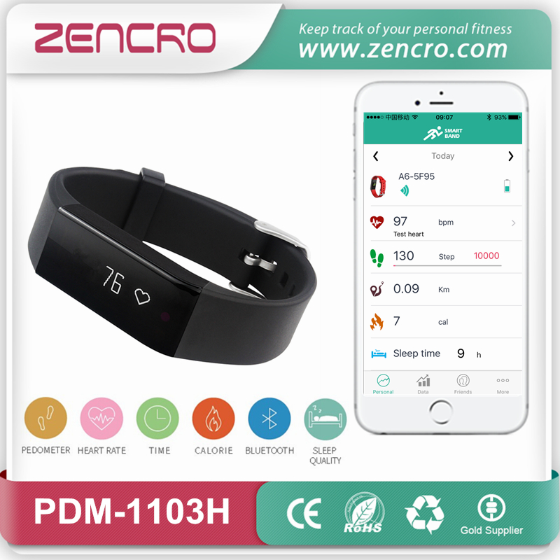 Фотография USB Charging Smart Wearable Fitness Tracker Heart Rate Wristband Free Shipping