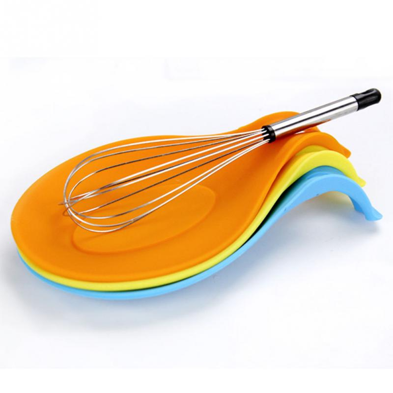 Kitchen spoon pad Silicone Spoon Insulation Mat Placemat Drink Glass Coaster Tray(China (Mainland))