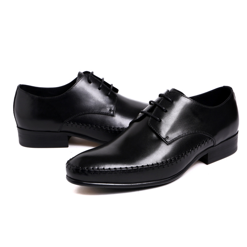 NEW 2016 Italy luxury mens dress shoes genuine leather comfortable lace up noble and graceful man shoes flats for business z679(China (Mainland))