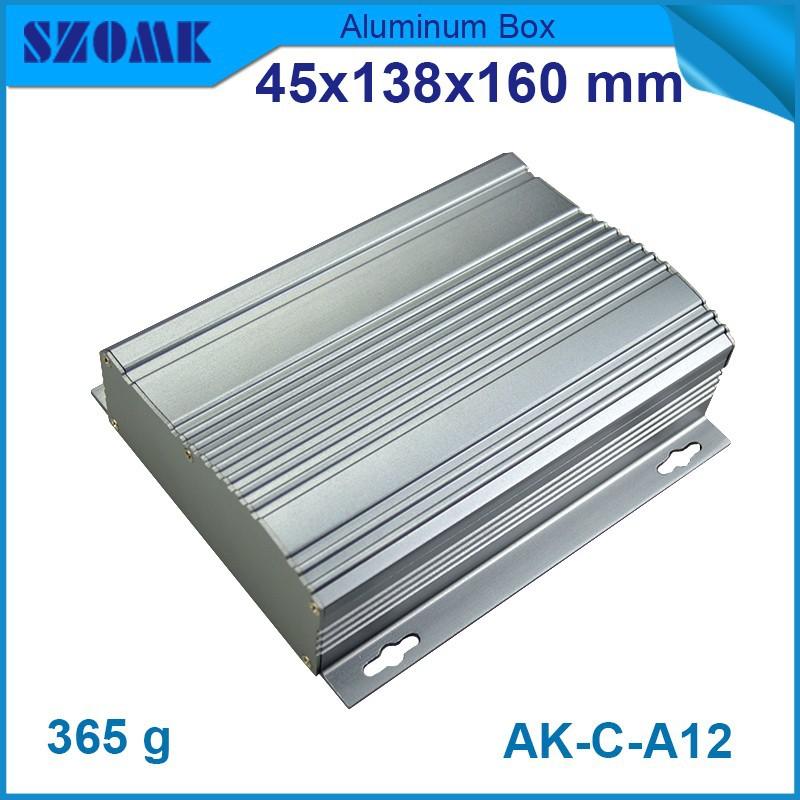 1 piece free shipping Wavy shape top case housing 45(H)x138(W)x160(L) mm aluminum project box enclousure case electronic(China (Mainland))