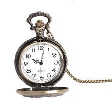 New Retro Vintage Large Face Pocket Watch Necklace Hanging Quartz Watch Unisex A Gift Antique design Analog Relogio Masculino(China (Mainland))