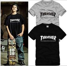 Fashion tshirt men brand 2016 summer trasher cotton t-shirt skateboard magzien hip hop sport tops tee shirts men's clothing