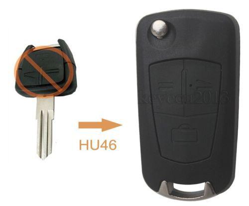 Folding Remote Key Shell Case 3B for Opel Corsa Astra Kadett Monza Montana HU46(China (Mainland))