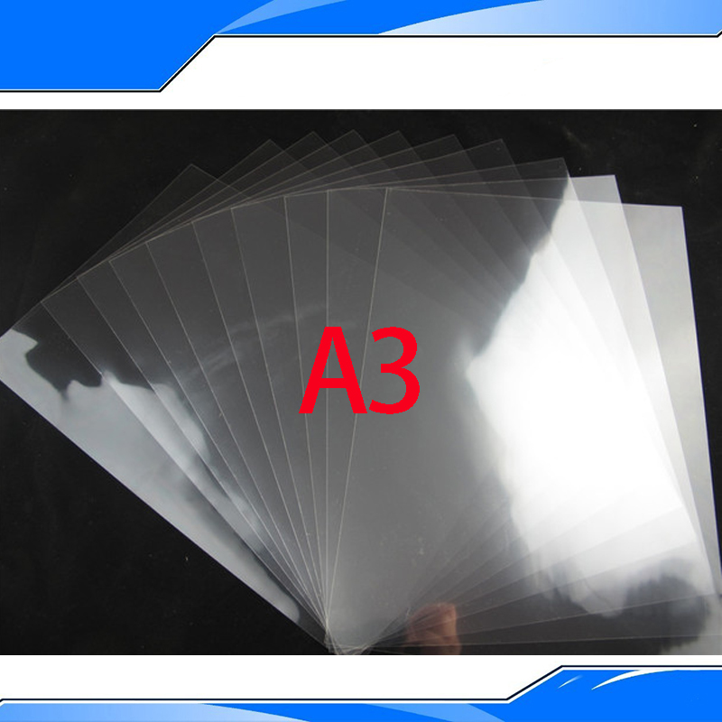PET Inkjet&Laser Printing Transparency Film Waterproof Transparency Film Five Pieces A3 Size Screen Printing Transfer Film(China (Mainland))