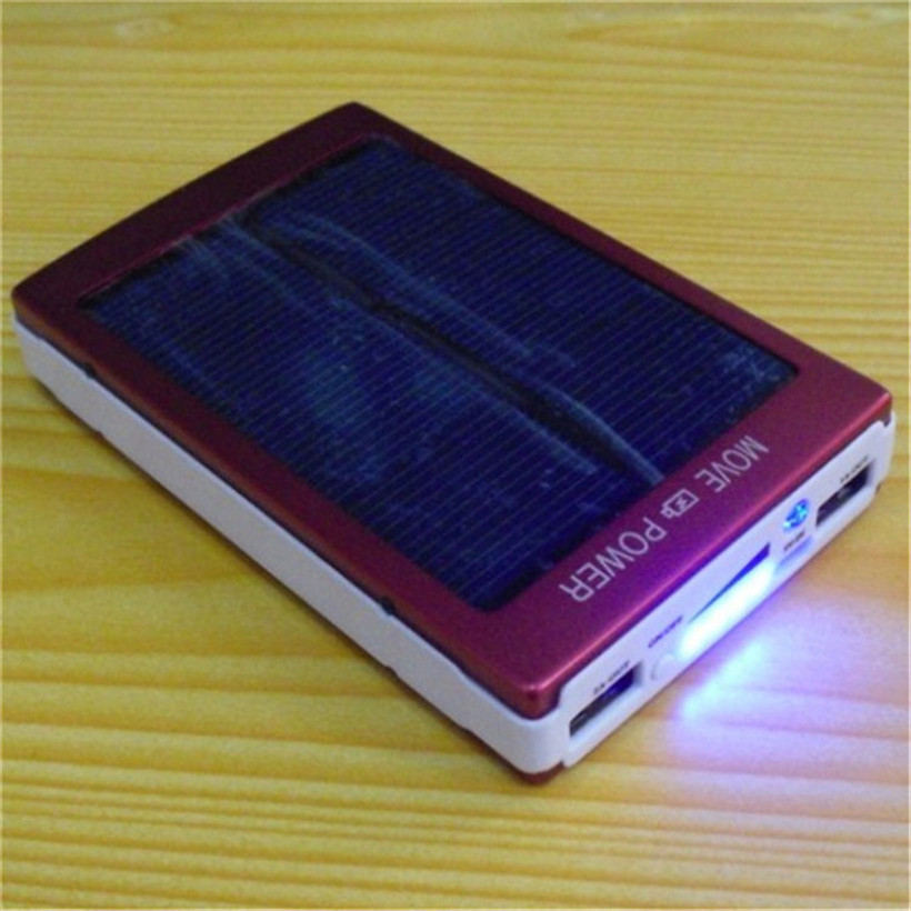 Portable Mobile Phone Battery Solar power bank Model 200000a can sun can charger charging battery 20000 for Cell Phone charging(China (Mainland))