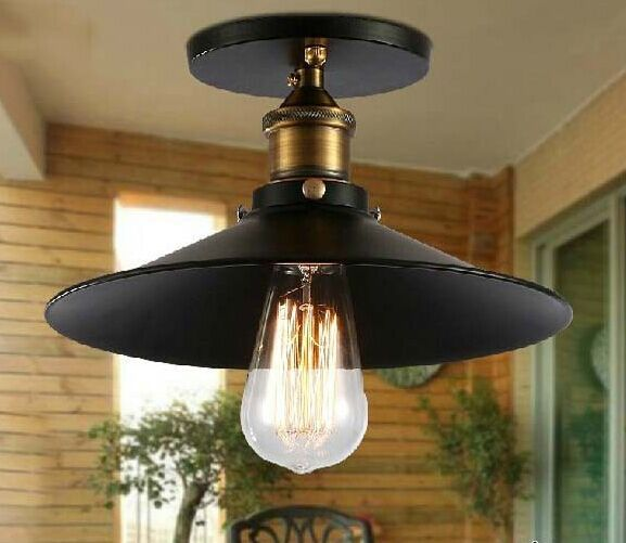 American Countryside Industrial Iron Ceiling Lamp Vintage
