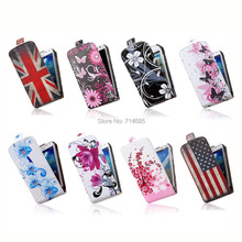 2015 Art Pattern Design PU Leather Coque Flip Phone Case for Samsung GALAXY S3 mini i8190