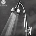 Newly 360 universal Wall Mounted Shower Arm Aluminum High Pressure Water Saving Shower Head 2 Conversion