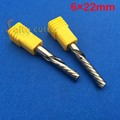 1pc left hand down cutter spiral single flute CNC router bits 6mm 22mm