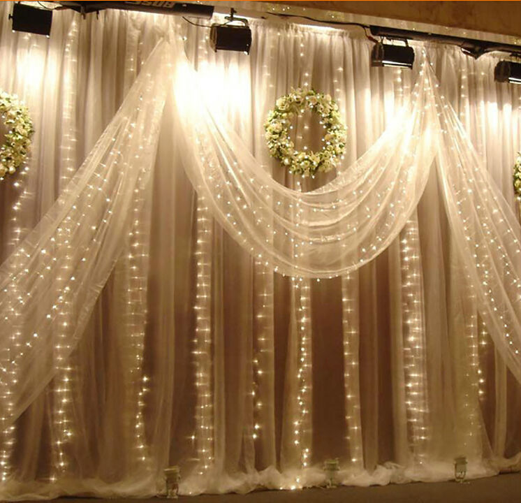 2 5x2m 360beads flashing window lamp background decoration for Background decoration