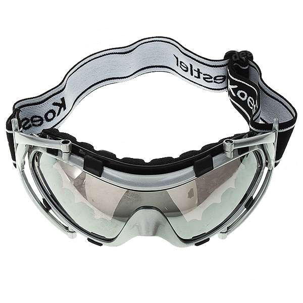 FREE SHIPPING ABS + Sponge Safety Goggles Glasses with Elastic Strap - Silver(China (Mainland))