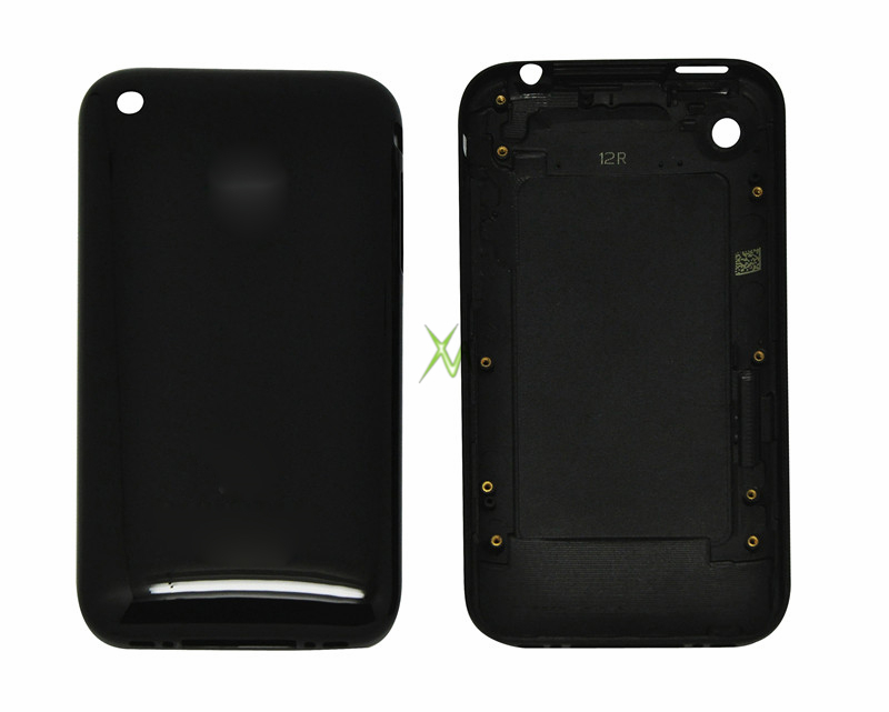 for iphone 3GS back housing cover,rear housing replacement with logo for iphone 3GS black color(China (Mainland))