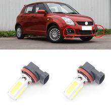 2X Auto Fog Light For Suzuki Swift 2005 - 2013 H11 7.5W 6000K LED Car Daytime Running Light External Light Source DRL Xenon(China (Mainland))