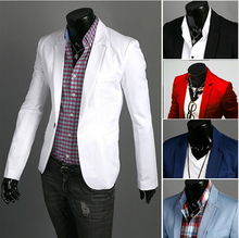 2015 New Arrival Fashion Clothing Wild Single Button terno Blazer Jacket Men's Casual Slim Fit Suit blazer masculino M-3XL