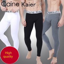 new arrival man tight winter wear thick thermal sexy long johns men underwear warm elastic home men's leggings pants plus size(China (Mainland))