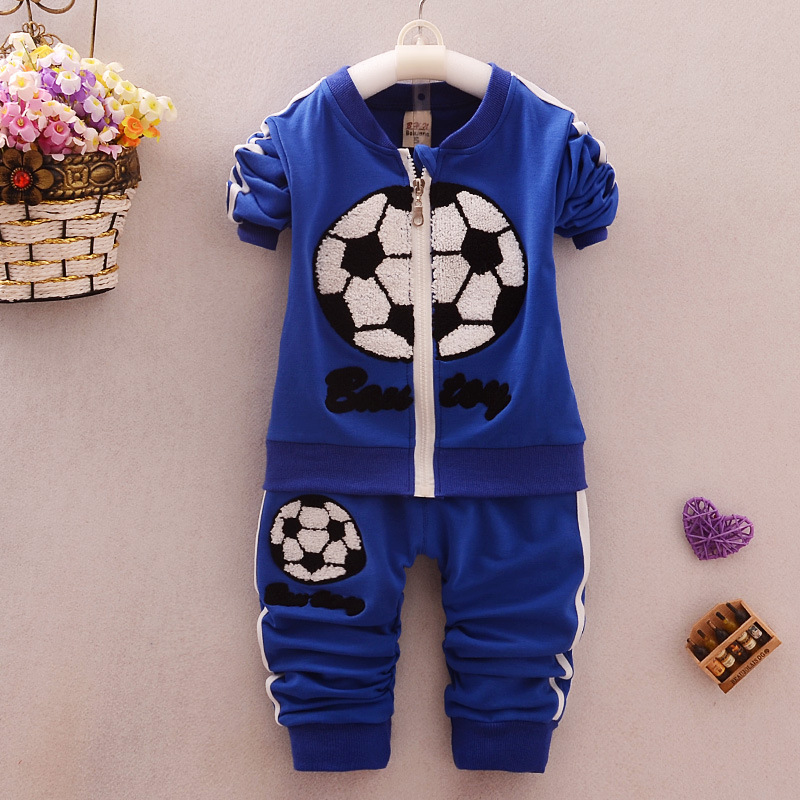 2016 Spring Infant Clothes Suits Baby Boys Football Suits