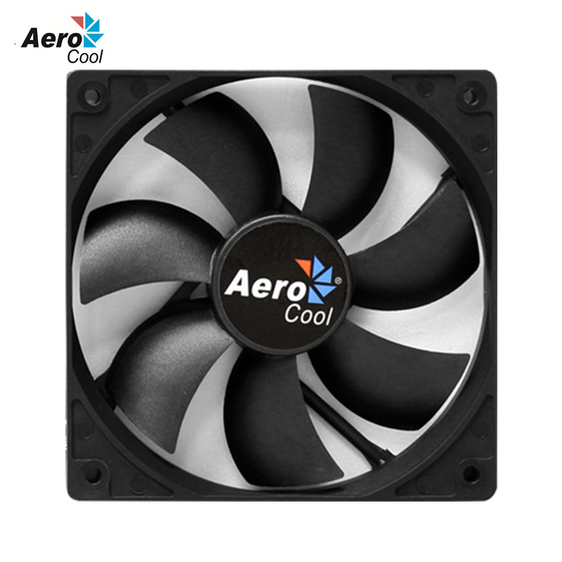 Wholesale Aerocool Dark Force 120mm Case Cooling Fan With 3 Pin 4 Pin Case Fan 12cm For Desktop Computer PC Case Cooling(China (Mainland))