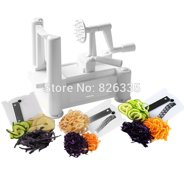 Buy Essential Tri-Blade Vegetable Slicer Spiralizer Cutter Mandoline Chopper Cooking Tools Kitchen Knife cheap