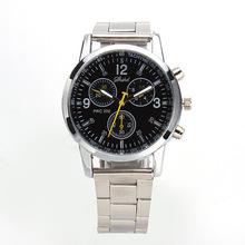 Fashion Three eyes luxury waterproof Men s Quartz full steel watch women s Dress Watches