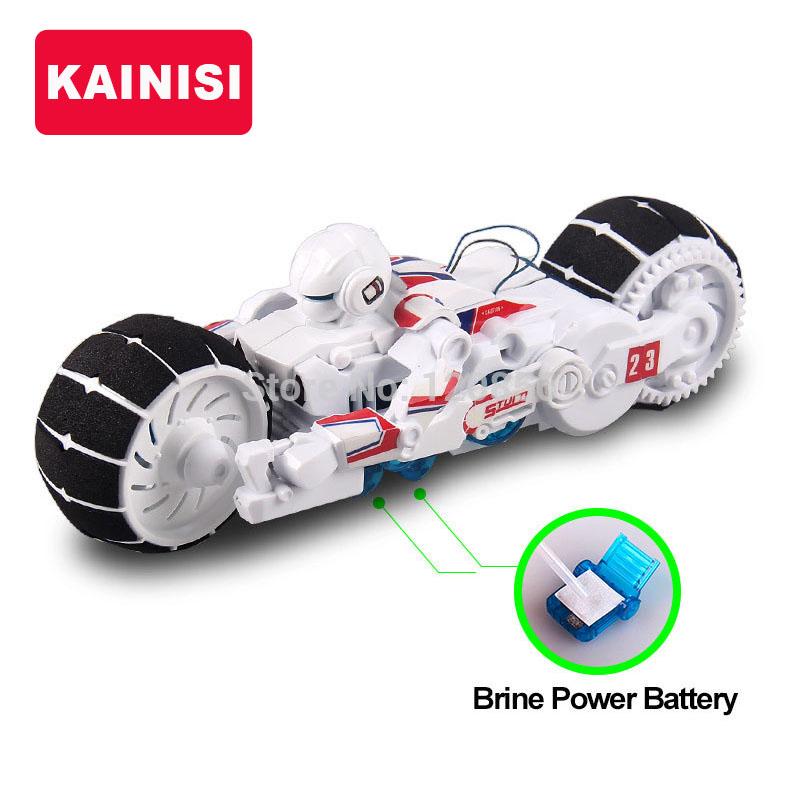 DIY Electronic Building Blocks Self assembled Motorcycle Brine power Battery Education intelligence boy gift puzzle Toys model(China (Mainland))