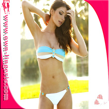 Sexy Women Lady's Summer Beach Lingerie Swimsuit Swimwear Bikini Bra And Bottom Suit Free shipping W2034