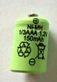 free shipping 10pcs/lot ni-mh 1.2v 1/3aaa 150mah rechargeable battery Solar battery(China (Mainland))