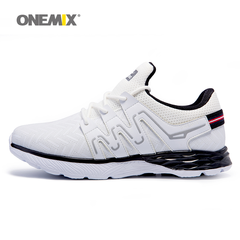 ONEMIX Men's Sport Sneakers Outdoor Running Shoes Autumn Winter Male Leather Upper Athletic Shoes Warm Thicken zapatos de hombre(China (Mainland))