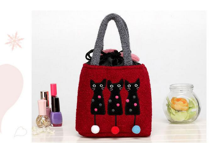 DrawString small fresh and cute little kitten with the bag girls portable little bags hot sale<br><br>Aliexpress